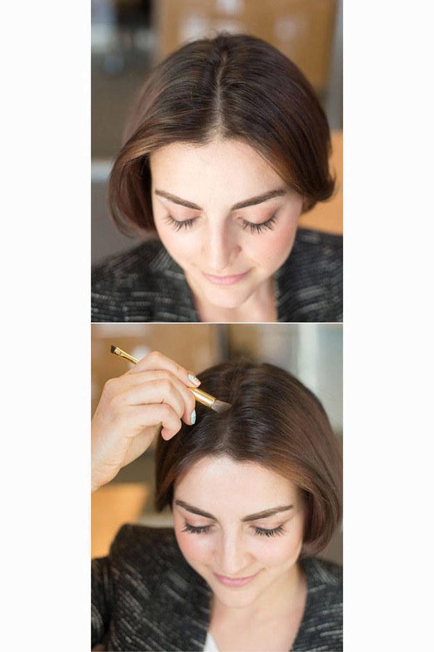 Instantno gostejši lasje? Nanesite malo senčila za veke na prečo