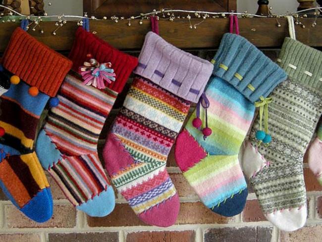 Naredite si božične nogavice