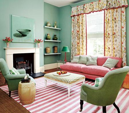 Dom v spomladanskih barvah