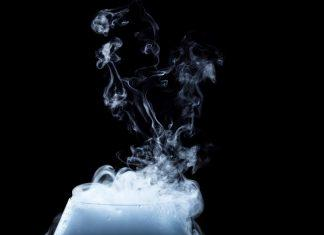 white smoke on glass